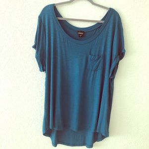 Pocket Tee Blue Sapphire Plus Size 3X Brand New